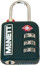 McNett TSA combination lock, black Standard 2019 Matkalukot