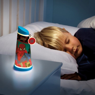 Spiderman Natlampe