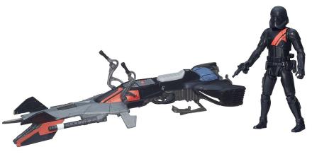 Star Wars Elite Speeder Bike fartøj og Stormtrooper figur - Only4kids