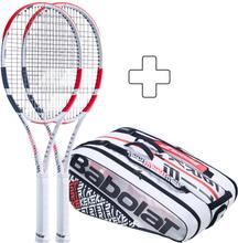 Babolat 2x Pure Strike 18x20 Plus Tennistasche Griffstärke 1