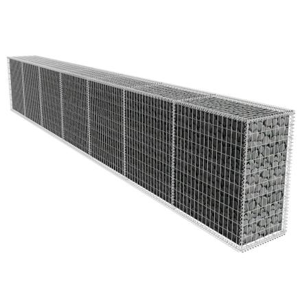 vidaXL gabionvæg med overtræk 600 x 50 x 100 cm