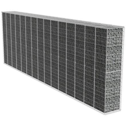 vidaXL gabion væg med dækken 600x50x200 cm