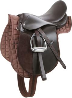 Kerbl saddel til haflinger læder brun 32198