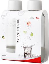 Aqvia Vandflaske PET 500 ml. 2 stk. White