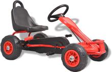vidaXL pedal-gokart med luftdæk rød