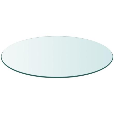 vidaXL bordplade hærdet glas rund 500 mm