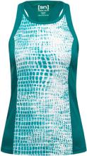 Super.natural Women's Round Neck Top Printed Dame Kortermede treningstrøyer Grønn XS