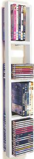 Iris - väggmonterad 76 Cd / 32 Dvd / Blu Ray lagring ram hylla - vit