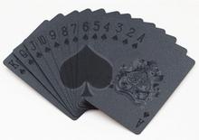 Svart Plast PVC Poker Vattentäta Spelkort Kortlek