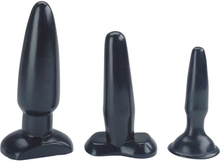 Liquorice Dip – Tre analplugs med sugproppfot