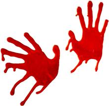 Fönsterdekoration Blodiga Handavtryck