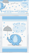 Baby Shower Boy Tackkort Umbrellaphant