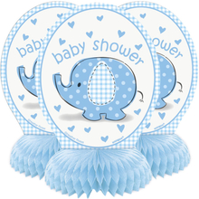 Baby Shower Boy Honeycomb Dekorationer Umbrellaphant