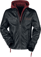 Slipknot - EMP Signature Collection - Läderjacka - svart röd