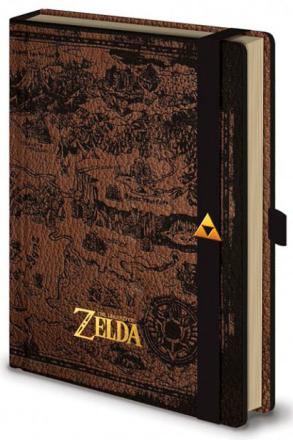 Legend of Zelda Notatbok A5 Hyrule Map