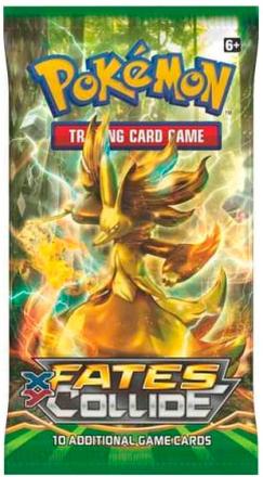 Pokemon X&Y10 Fates Collide Booster 10 tilfeldige kort per pakke