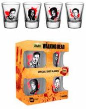 The Walking Dead Shot Glass 4-Pack Offisielle glass med Walking Dead motiv