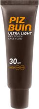 Köp Piz Buin Ultra Light Dry Touch Face Fluid SPF 30, 50ml Piz Buin Solskydd fraktfritt