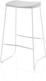 Mini skammel hvit lav 65 cm