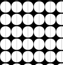 Lane stoff hvite sirkler