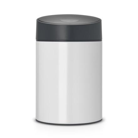 Slide Bin søppelbøtte 5 liter pure white
