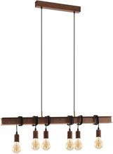 EGLO Hänglampa Townshend 4 6 lampor antik brun