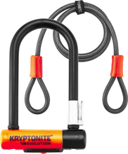 Kryptonite Evolution Mini-7 Bike Lock + Kryptoflex 2020 Bygellås