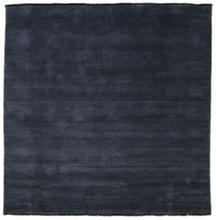 Handloom fringes - Mörkblå matta 200x200 Modern, Kvadratisk Matta