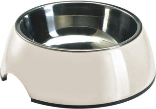 Hunter Melaminskål, hvid med inderskål i rustfrit stål - Sparesæt: 2 x 160 ml, Ø 11 cm