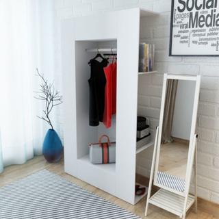 Garderobe 106x36,5x192 cm - hvit