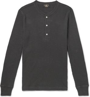 RRL - Slim-fit Textured-cotton Henley T-shirt - Black - M,RRL - Slim-fit Textured-cotton Henley T-shirt - Black - XS,RRL - Slim-fit Textured-cotton Henley T-shirt - Black - S,RRL - Slim-fit Textured-cotton Henley T-shirt - Black - L,RRL - Slim-fit Texture