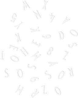Design Letters Bokstäver och Siffror (Vit)