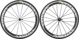 Mavic Cosmic Pro Carbon - Clincher hjulsæt inkl. dæk - Sram/Shimano - Sort/hvid - 700x25c