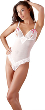 Cottelli Collection: Crotchless Body, vit/rosa