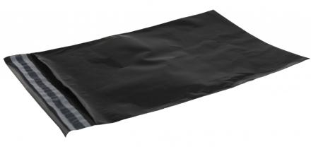 Forsendelsesposer PE sort 230x325mm 100stk/pak