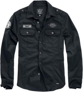 Brandit - Luis Shirt - Longsleeve - svart