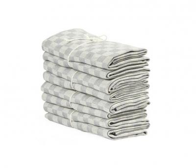Axlings Linne 2-pack Handduk Schack grå/vit