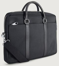 Steele & Borough Datorväska Little briefcase biker Svart