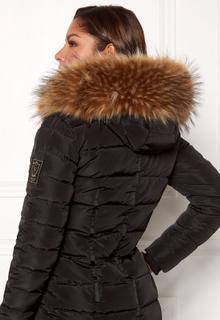 Chiara Forthi Chiara Faux Fur Collar Brown melange One size