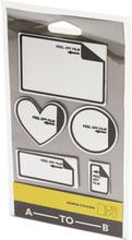 A-TO-B Mirror Stickers klistermärken, Silver
