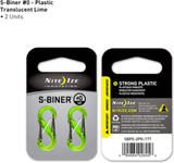 Nite Ize S-Biner Plast # 0 - Lime Translucent