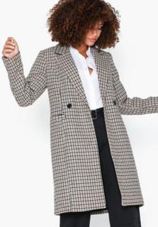 Vero Moda Vmcheck Rambla 3/4 Wool Jacket Boos Frakker