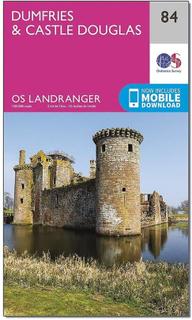 ORDNANCE SURVEY Landranger 84 Dumfries & Castle Douglas karta med D...