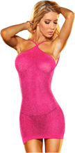 Lapdance VIP Mini Dress Pink Metallic