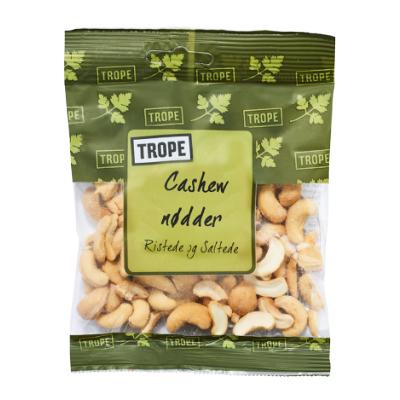 Trope Paistetut ja Suolatut Cashew Pähkinät 50 g