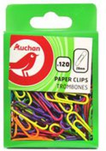 Auchan - Kolorowe spinacze biurowe rozmiar 28mm