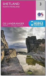 ORDNANCE SURVEY Landranger 3 Shetland Nord fastlandet karta med Dig...
