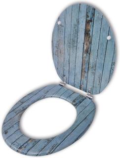 vidaXL Toalettsits i MDF åldrat trä