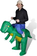 vidaXL Maskeraddräkt dinosaurie uppblåsbar