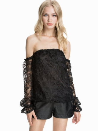 NLY Design Off-Shoulder Heavy Lace